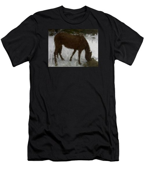 Men's T-Shirt (Slim Fit) featuring the painting Flicka by Bruce Nutting