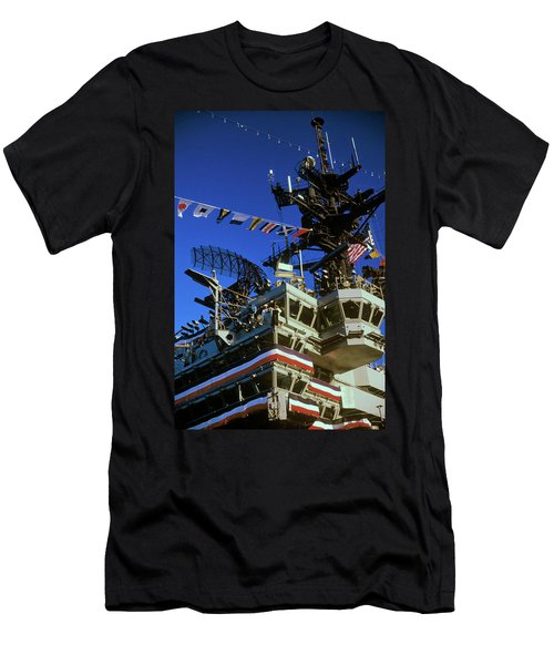 Flight Deck Of The Uss Kennedy Aircraft Men's T-Shirt (Athletic Fit)