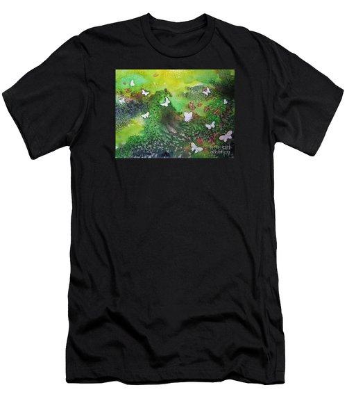 Flight Of White Men's T-Shirt (Athletic Fit)