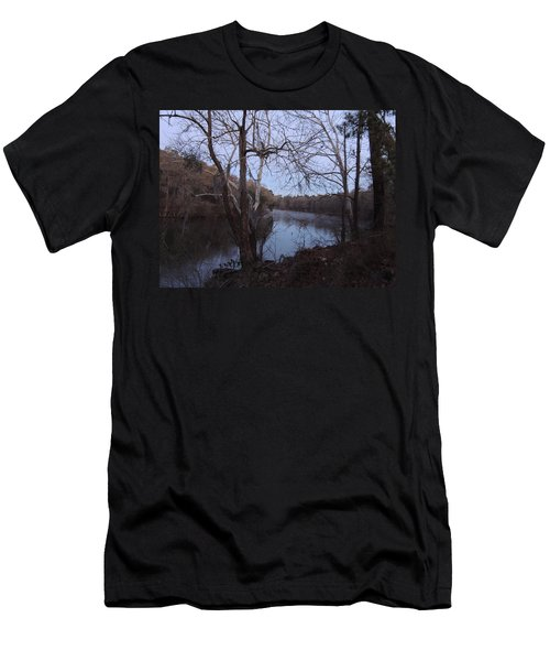 Men's T-Shirt (Slim Fit) featuring the photograph Flint River 4 by Kim Pate