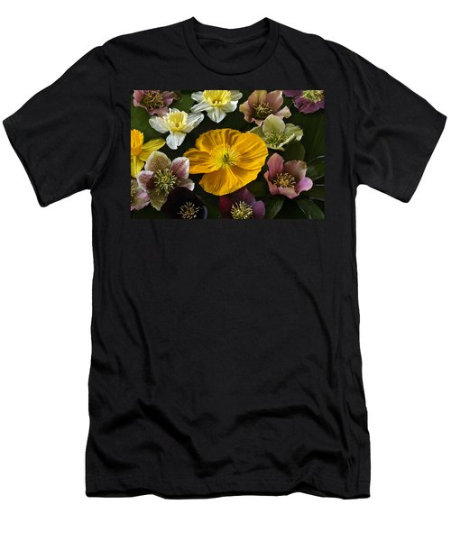 Floating Bouquet Of Early April Flowers Men's T-Shirt (Athletic Fit)