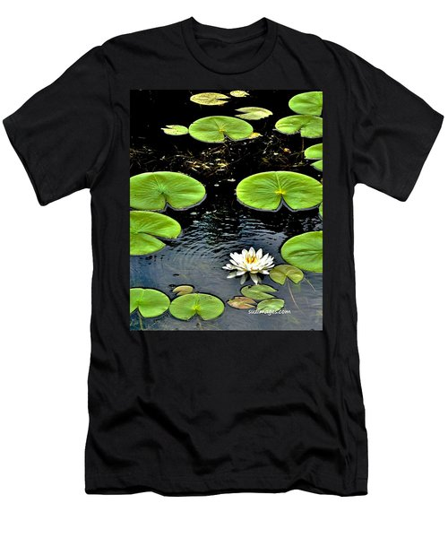 Floating Lily Men's T-Shirt (Athletic Fit)