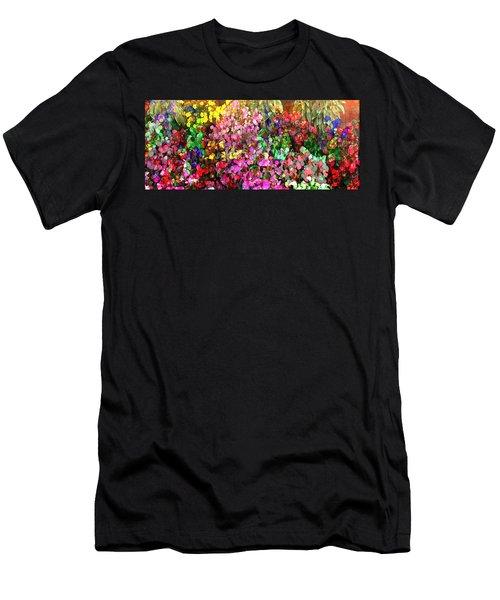 Floral Basket 1  2.4 To 1 Aspect Ratio Men's T-Shirt (Athletic Fit)