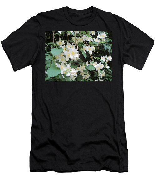 Men's T-Shirt (Slim Fit) featuring the photograph Floral Cascade by Pema Hou