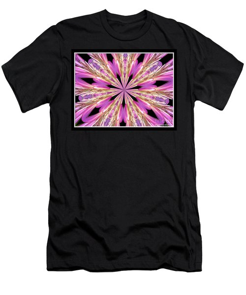 Men's T-Shirt (Slim Fit) featuring the photograph Floral Kaleidoscope  Waterlily by Rose Santuci-Sofranko