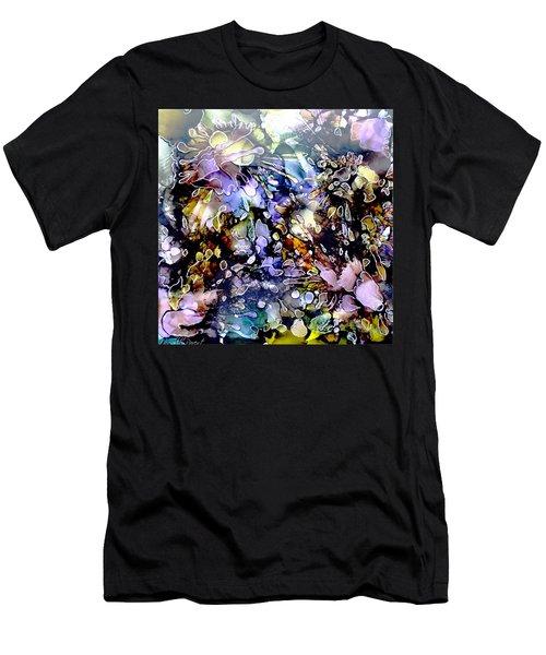 Floral Summer Celebration Alcohol Inks Men's T-Shirt (Slim Fit) by Danielle  Parent