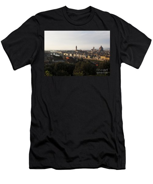 Men's T-Shirt (Slim Fit) featuring the photograph Florence Form The Piazza Michalengelo by Belinda Greb