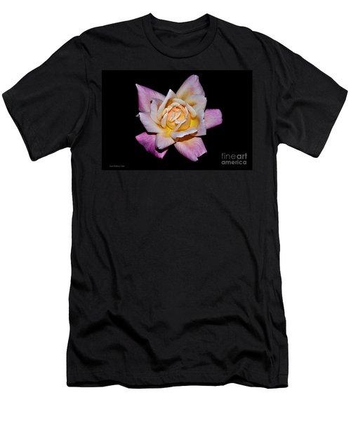 Men's T-Shirt (Slim Fit) featuring the photograph Floribunda Rose In Full Bloom by Susan Wiedmann
