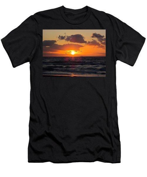 Florida Sunrise Men's T-Shirt (Slim Fit) by MTBobbins Photography