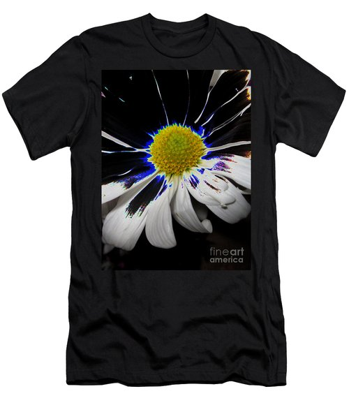 Art. White-black-yellow Flower 2c10  Men's T-Shirt (Athletic Fit)