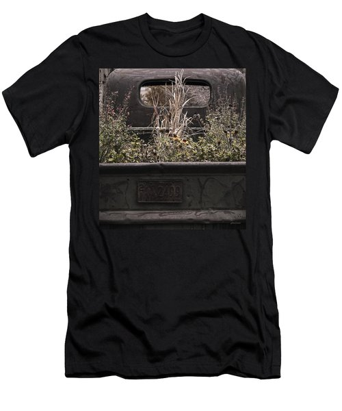 Men's T-Shirt (Slim Fit) featuring the photograph Flower Bed - Nature And Machine by Steven Milner