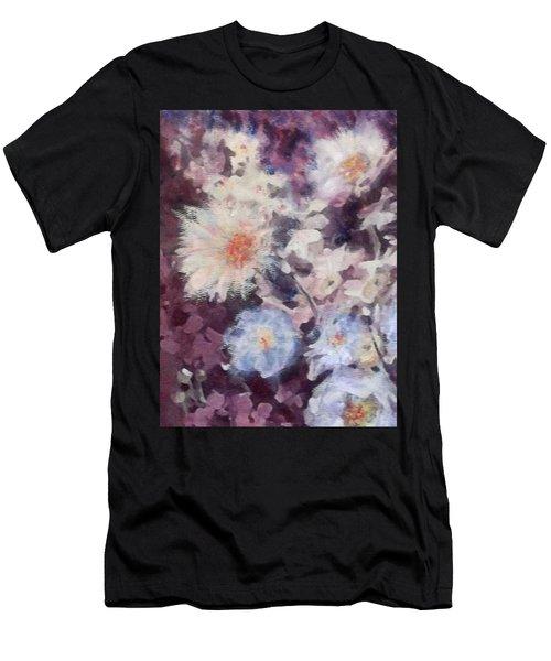 Flower  Burst Men's T-Shirt (Athletic Fit)