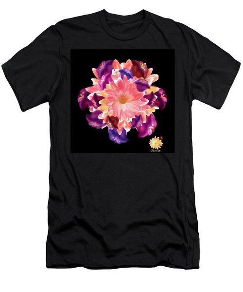 Flower Circle Men's T-Shirt (Slim Fit) by Christine Fournier