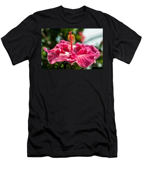 Men's T-Shirt (Athletic Fit) featuring the photograph Flower Closeup by Yew Kwang