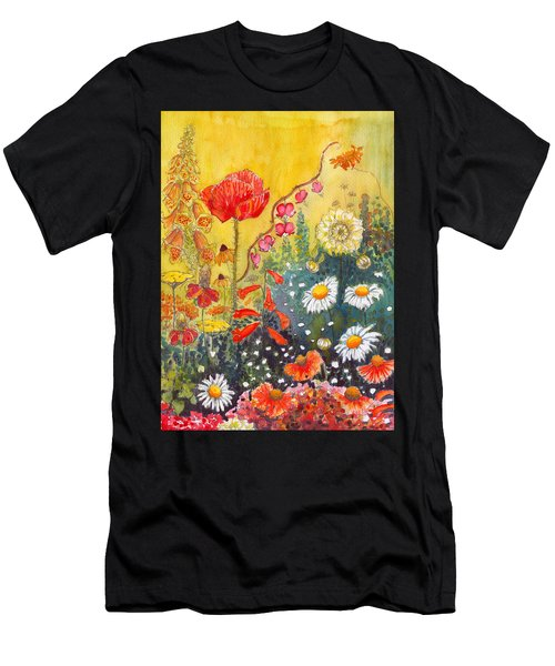 Flower Garden Men's T-Shirt (Athletic Fit)