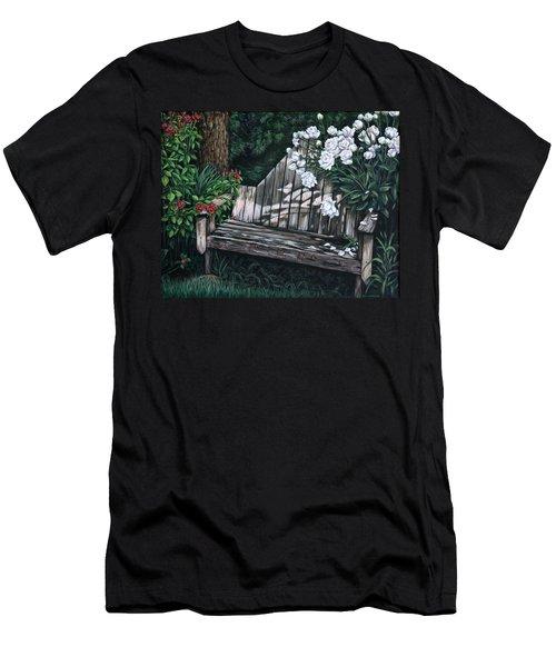Flower Garden Seat Men's T-Shirt (Athletic Fit)