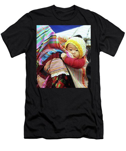 Flower Hmong Baby 04 Men's T-Shirt (Athletic Fit)