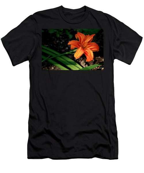Flower In Backyard Men's T-Shirt (Athletic Fit)