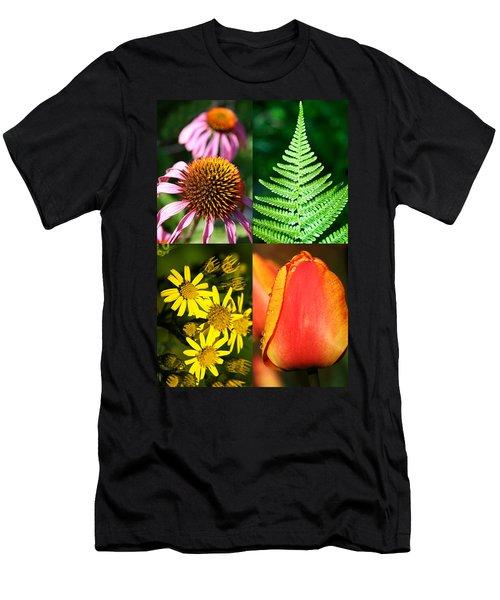 Flower Photo 4 Way Men's T-Shirt (Athletic Fit)