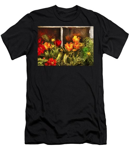 Flower - Tulip - Tulips In A Window Men's T-Shirt (Athletic Fit)