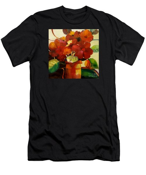 Men's T-Shirt (Athletic Fit) featuring the painting Flower Vase No. 3 by Michelle Abrams