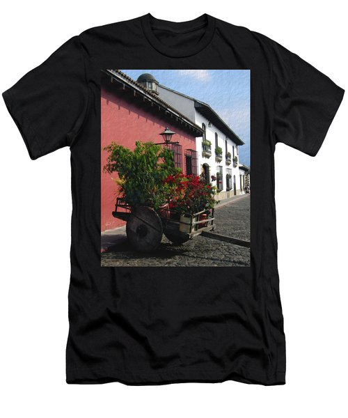 Flower Wagon Antigua Guatemala Men's T-Shirt (Athletic Fit)