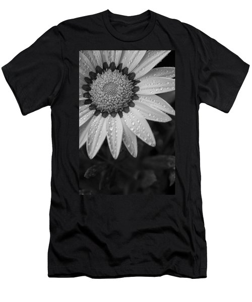 Flower Water Droplets Men's T-Shirt (Slim Fit) by Ron White