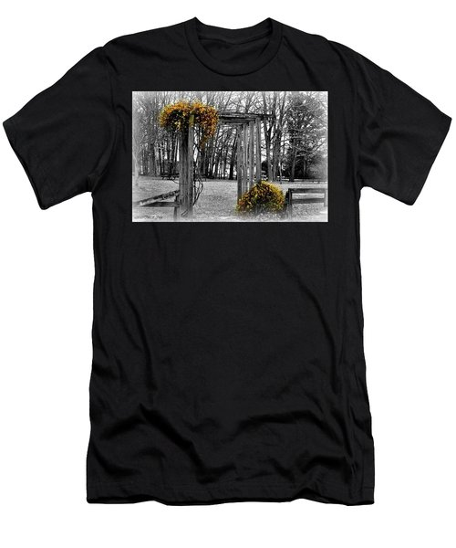 Men's T-Shirt (Slim Fit) featuring the photograph Flowering Archway by Tara Potts