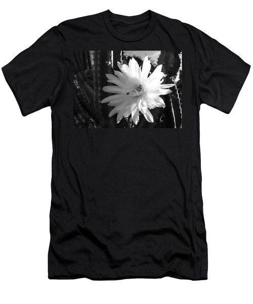 Flowering Cactus 1 Bw Men's T-Shirt (Athletic Fit)