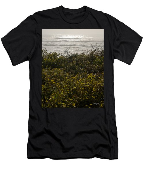 Flowers And The Sea Men's T-Shirt (Athletic Fit)