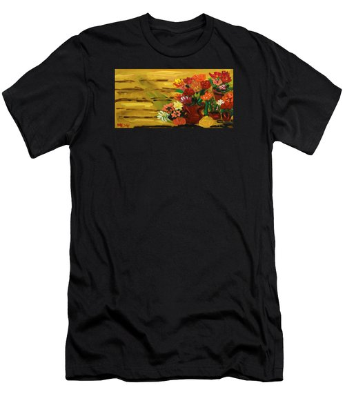 Flowers At The Side Of The House Men's T-Shirt (Athletic Fit)