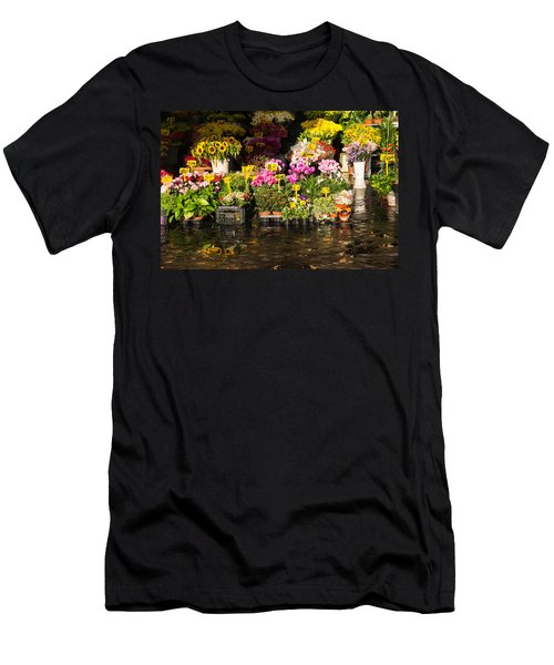 Flowers For Sale At Campo De Fiori - My Favourite Market In Rome Italy Men's T-Shirt (Athletic Fit)