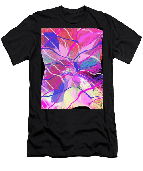 Original Contemporary Abstract Art Flowers From Heaven Men's T-Shirt (Athletic Fit)