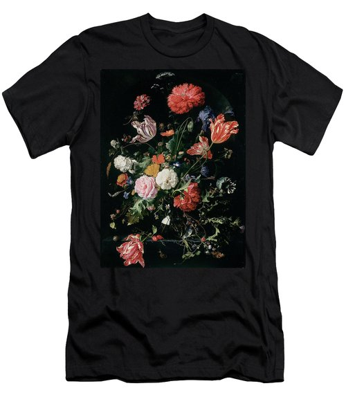 Flowers In A Glass Vase, Circa 1660 Men's T-Shirt (Athletic Fit)