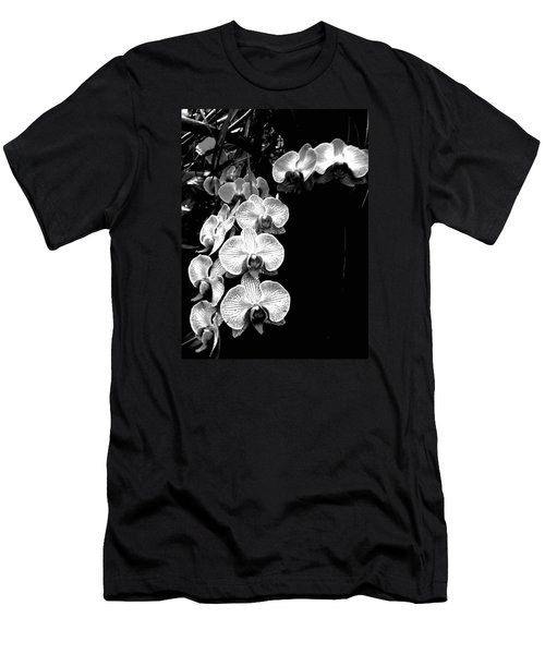 Flowers In Black And White Men's T-Shirt (Athletic Fit)