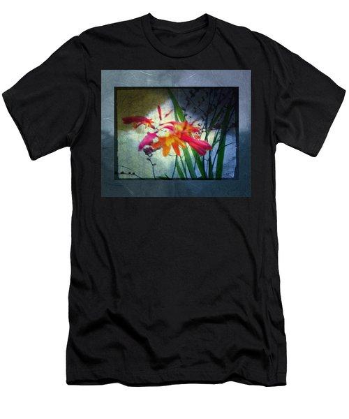 Flowers On Parchment Men's T-Shirt (Slim Fit) by Absinthe Art By Michelle LeAnn Scott