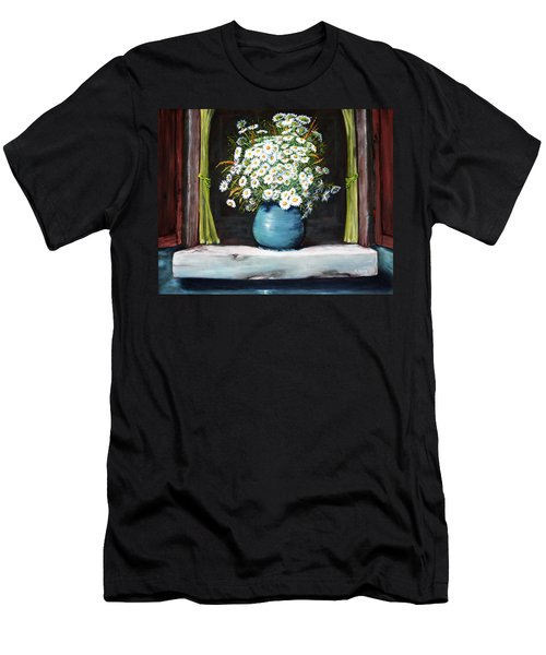 Flowers On The Ledge Men's T-Shirt (Athletic Fit)