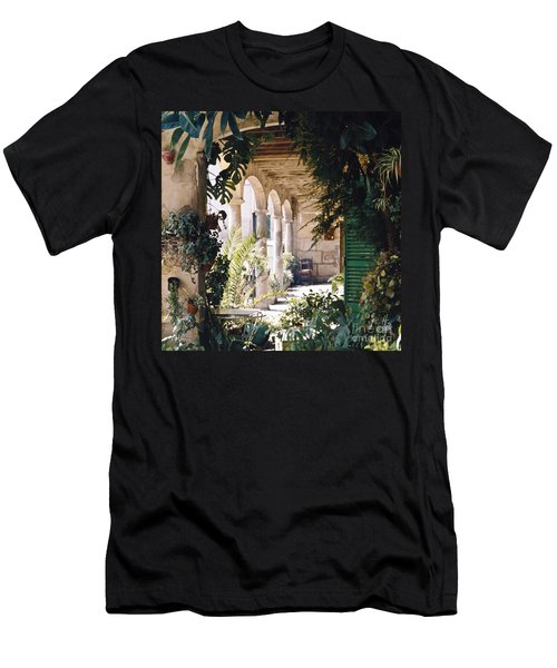 Flowery Majorquin  Patio In Valdemosa Men's T-Shirt (Athletic Fit)