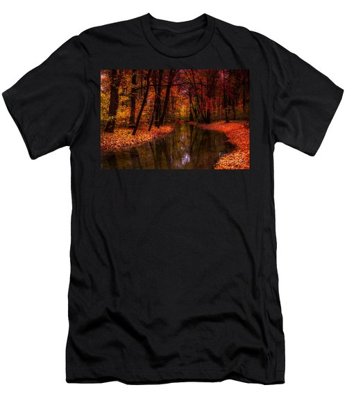 Flowing Through The Colors Of Fall Men's T-Shirt (Athletic Fit)