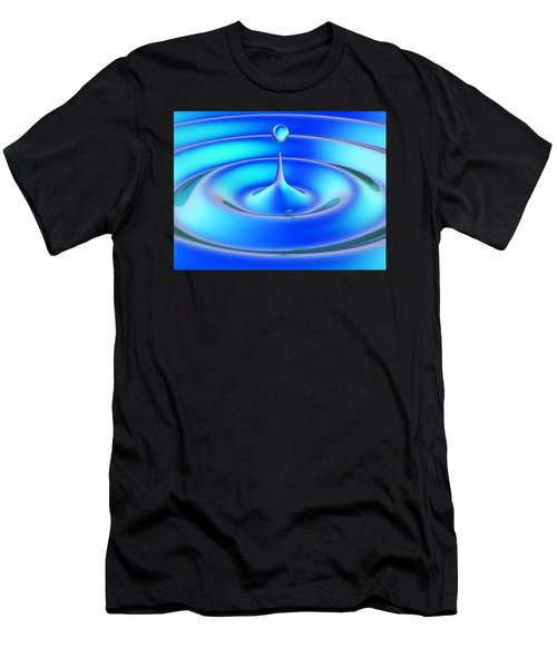Men's T-Shirt (Slim Fit) featuring the digital art Fluidum 1 by Andreas Thust