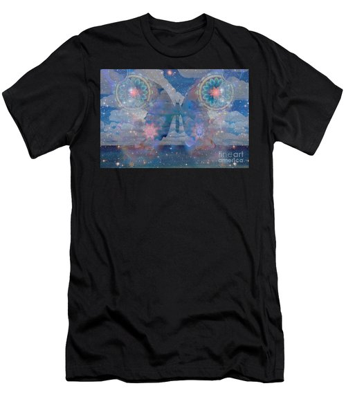 Flutterby Meditation Men's T-Shirt (Athletic Fit)