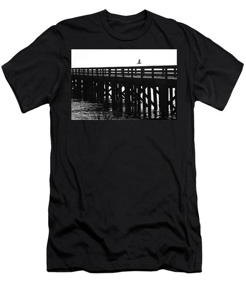 Men's T-Shirt (Slim Fit) featuring the photograph Fly Away by Sonya Lang