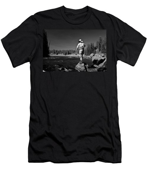 Men's T-Shirt (Slim Fit) featuring the photograph Fly Fishing The Box by Ron White