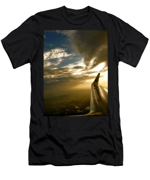 Flying Clouds By David Pucciarelli Men's T-Shirt (Athletic Fit)