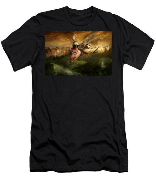 Flying Pig - Steampunk - The Flying Swine Men's T-Shirt (Athletic Fit)