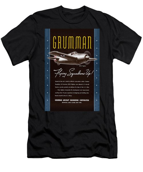 Grumman Flying Squadrons Up Men's T-Shirt (Athletic Fit)