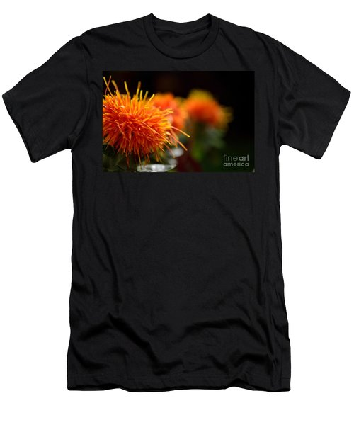 Focused Safflower Men's T-Shirt (Athletic Fit)