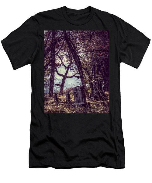 Men's T-Shirt (Slim Fit) featuring the photograph Foggy Memories by Melanie Lankford Photography