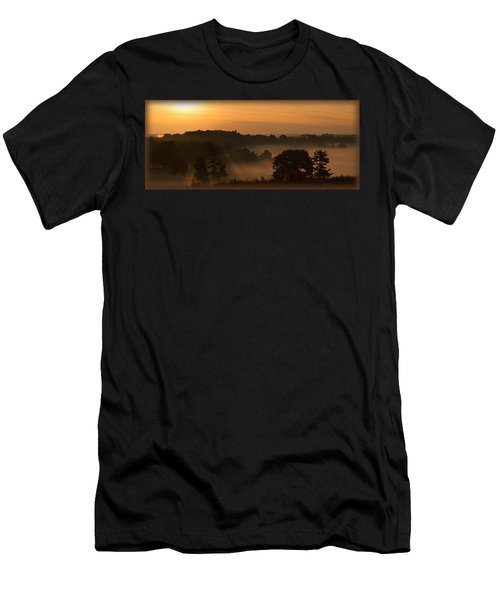 Foggy Morning At Valley Forge Men's T-Shirt (Slim Fit) by Michael Porchik