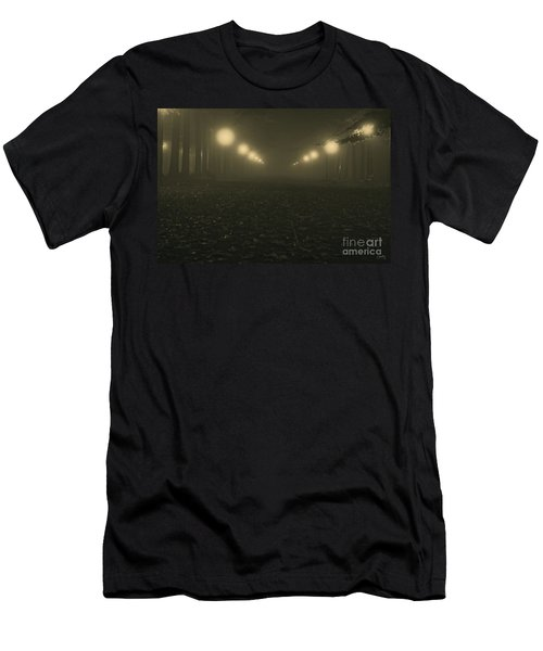 Foggy Night In A Park Men's T-Shirt (Athletic Fit)